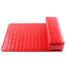 Wholesale Latest Nail Art Rests Leather Pillow with Pad Manicure cushion Pillow Leather Arm Hand Holder 100pcs/lot free shipping(China (Mainland))