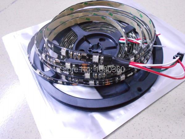 5m Waterproof Black/White PCB WS2811 RGB led strip SMD 5050 individually addressable led stripe 12V 30 led 10 IC /m IP65(China (Mainland))