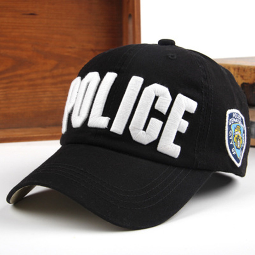 High Quality Police Cap Unisex Military Hat Baseball Cap Men Snapback Caps Basketball Adjustable Sports Snapbacks For Adult(China (Mainland))