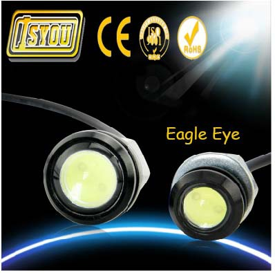 High Brightness 2pcs Eagle Eye Daytime Running Lights DRL LED Car work Light Source Parking lamp Tail Fog Light Car Styling(China (Mainland))