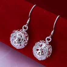 Wholesale silver plated Earring,925 Jewelry silver earring,Solid Ball Earrings SMTE100(China (Mainland))