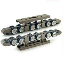 Длина: 220мм топ монтирующийся 12 колесиков с направляющей/уплотнение раздвижных дверей, ролик для раздвижных дверей/ висячий ролик