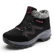Kadın Kar Botları Kış Ayakkabı sıcak Peluş Krasovki yarım çizmeler 2018 Marka Kadın rahat ayakkabılar Kama Kar Seksi Botlar Su Geçirmez(China)
