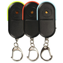 Wireless Anti-Lost Alarm Key Finder Locator Keychain Whistle Sound LED Light High Quality(China (Mainland))