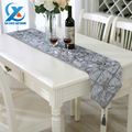 28x210cm Luxury Stereoscopic Flower Embroidered Table Runner Cloth Grid Style Wedding Table Runner Home Decoration Fast