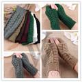 Soft Warm Mitten Unisex Men Women Knitted Fingerless Winter Gloves 2016 Fashion