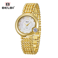 Luxury Brand BELBI Watches Women Quartz Watch Fashion Gold Stainless Steel Watches Women Crystal Dress Wristwatch