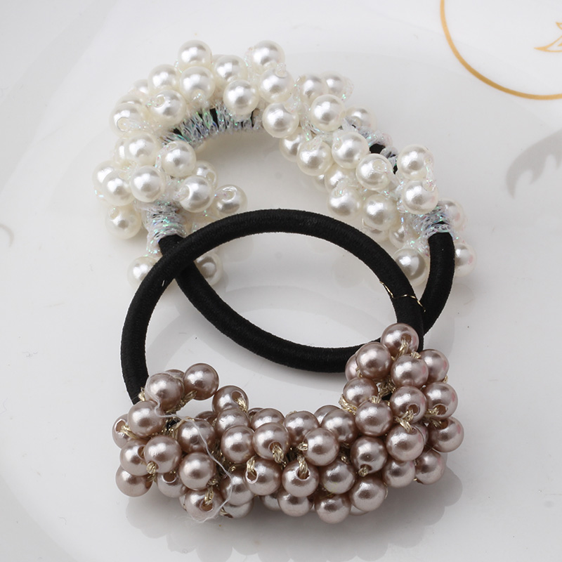 MISM Hot Sale New Hair Accessories Pearl Elastic Rubber Bands Headwear For Women Girl Ponytail Holder Scrunchy Ornaments Jewelry(China (Mainland))