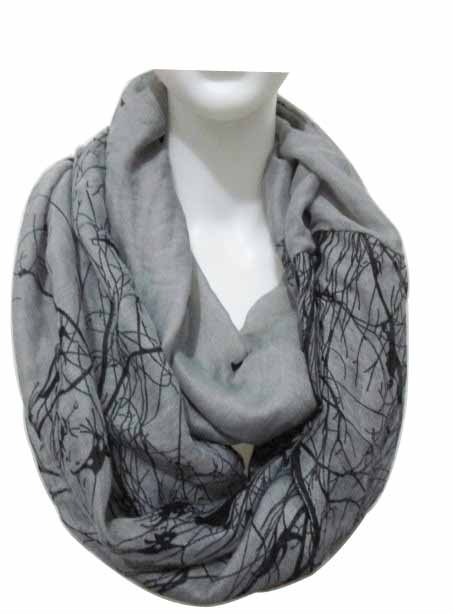 2015 New Fashion Winter Grey Blue Pink Bird Trees Scarf Infinity Scarfs Loop Snood Woman/Ladies - CY Scarves Store store