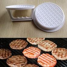 DIY White Plastic Hamburger Meat Beef Grill Burger Press Patty Maker Mold Mould Kitchen Stufz Machine Patties(China (Mainland))