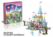 sy325 Girl friends 695pcs princess and tower minifigures figures building block sets children gifts Compatible With Lego