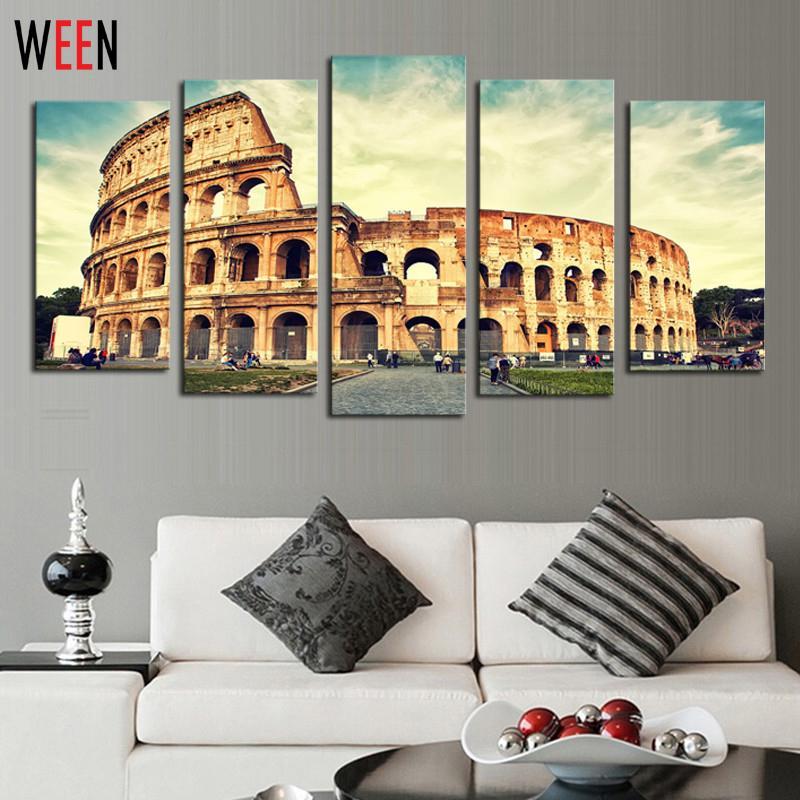 Interior Of The Colosseum Art Print Home Decor Wall Art Poster D