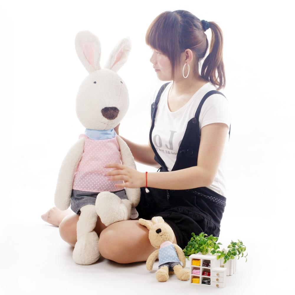 pernycess 1pcs120cm dots genuine security lesucre rabbit doll colors: black white brown<br><br>Aliexpress
