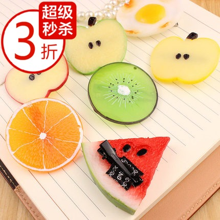 Hot-selling fashion lemon watermelon hairpin headband hair accessory fruit side-knotted clip tousheng hair rope(China (Mainland))