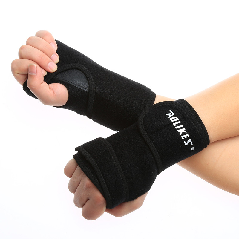 1X Universal Wrist Support Sport Wristband Hand Brace Wrap Bandage Carpal Tunnel Splint Arthritis Sprains Strain Left/Right Hand(China (Mainland))