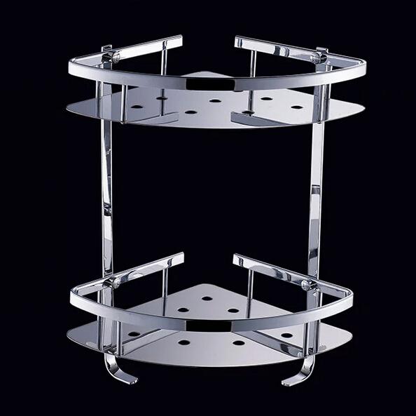 Stainless Steel 304 Bathroom Corner Shelf Shower Room Rack For Body Wash Bottle Toilet Table
