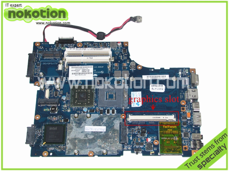 LA-4993P K000086370 Laptop Motherboard for Toshiba A500 KSKAA intel PM45 DDR3 With graphics slot Mainboard(China (Mainland))