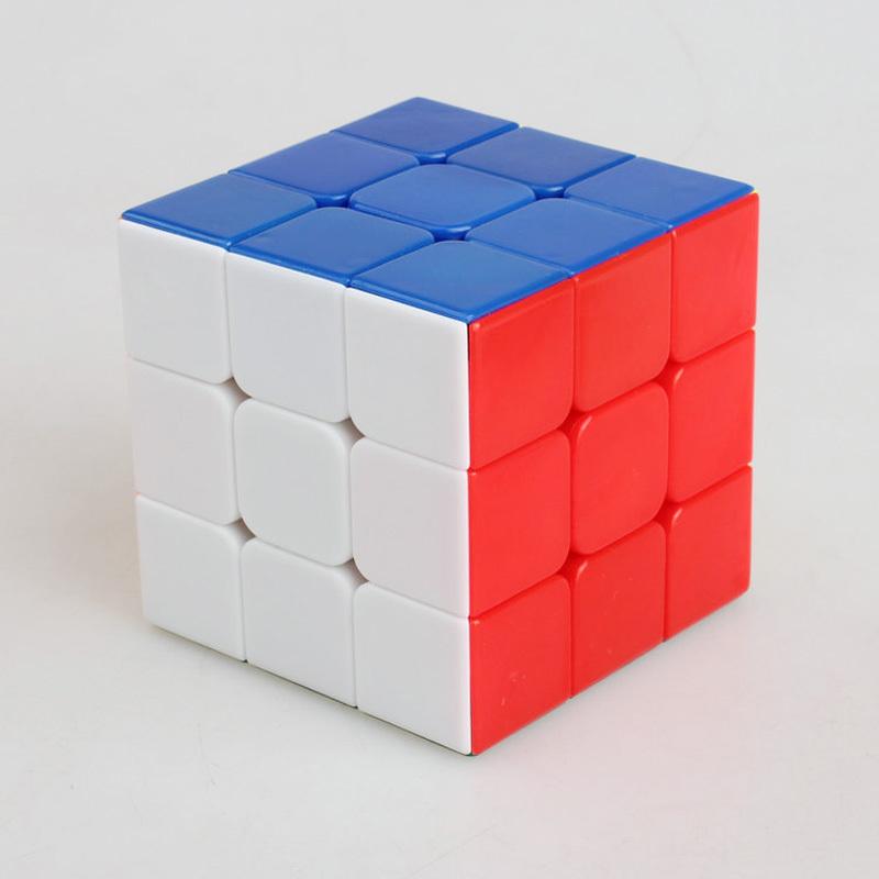 Shengshou Stickerless Speed Twist 3x3x3 Magic Cube Puzzle Smooth 3x3 Cubo Magico Profissional Kids toys(China (Mainland))