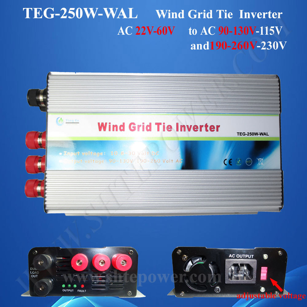 grid connected wind turbine inverter 250w,ac to ac grid micro inverter for wind(China (Mainland))