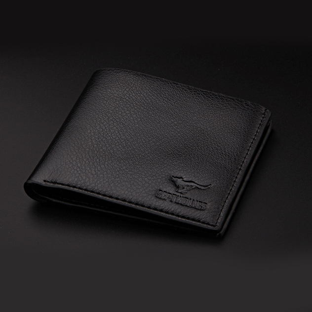 Hot Sale Fashion Casual Pu Leather Men Wallets Black Coffee Colors Credit Card holder Purse Wallet Men Free