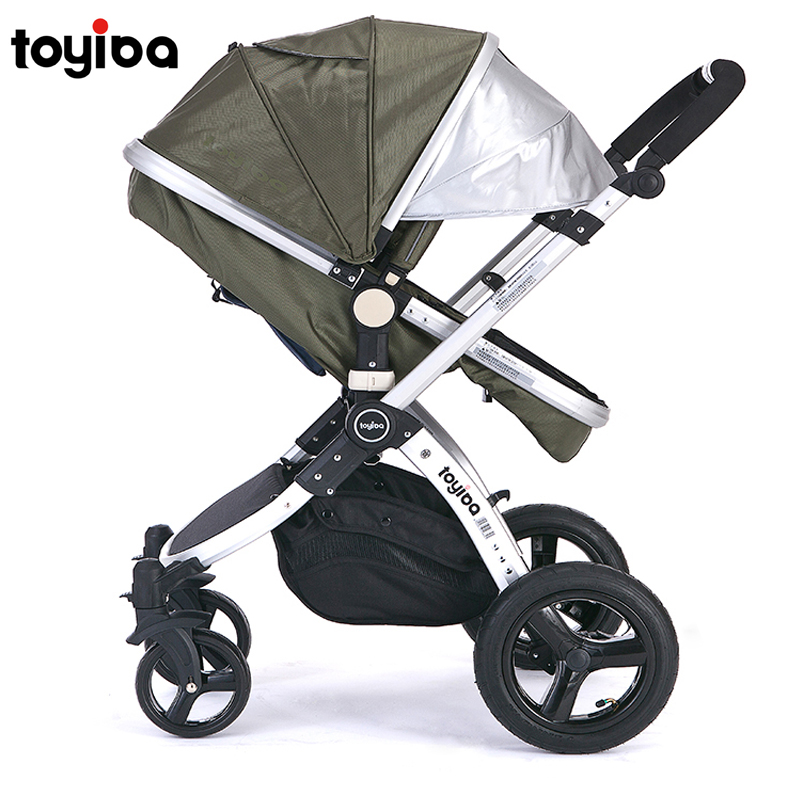 Five colors 8 gifts High view Baby stroller baby car four wheel baby car shock absorbers baby child trolley light bb trolley(China (Mainland))