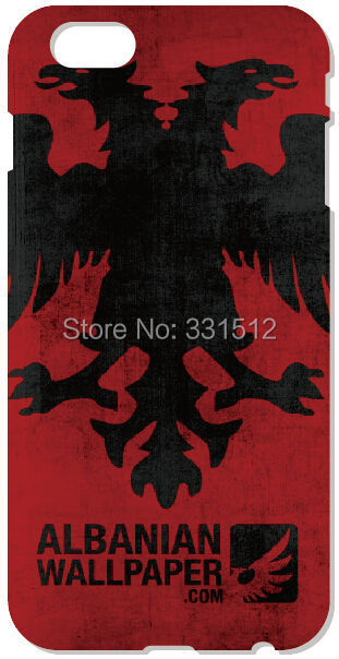 Albanian Flag For iPhone 4 4S 5 5S 5C 6 Plus iPod Touch 4 5 Samsung Galaxy S2 S3 S4 S5 Mini S6 Edge Note 2 3 4 Cell Phone Case(China (Mainland))