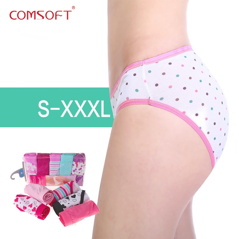 5 Pcs/lot 2015 Hot Sexy Lace 100% Pure Cotton Comfortable Underwear Women Panties Large Size Butt Lifter Briefs For Lady S-XXL(China (Mainland))