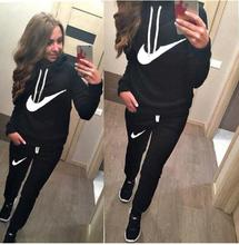 Drop Shipping 2016 Spring And Autumn New Arrival Female Casual Fashion Sports Basic Pullover Sweatshirt Set Plus Size 841(China (Mainland))