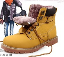 Top Quality New Winter Men's Snow Boots Fahion Waterproof Boots Genuine Leather Man High Shoes Outdoor Casual Man Shoes 39-45(China (Mainland))