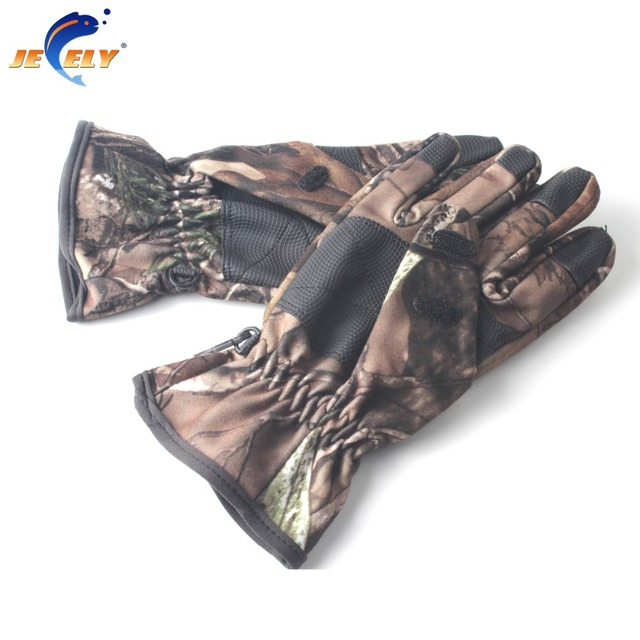 Free Shipping! 3 Cut Finger Climbing Gloves,water proof breathable Fishing Camo Gloves