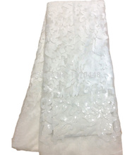 SUMMER High quality French lace, organza lace, WHITE bud silk fabrics, double organza.By DHL free shipping, 5 yards(China (Mainland))