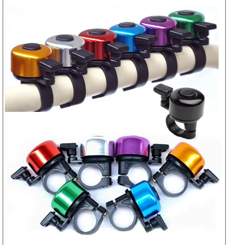 Aluminum Alloy Loud Sound Bicycle Bell Handlebar Safety Metal Ring Environmental Bike Cycling Horn Multi Colors 6150(China (Mainland))