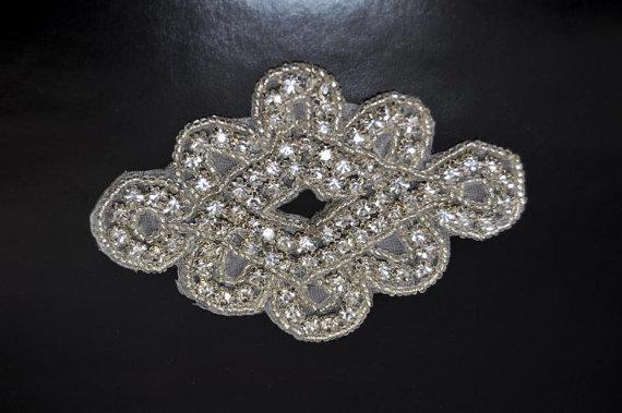 Wholesale Rhinestone Applique Crystal Boutique Applique for Bridal Garter Bridal Sash Headband Wedding DIY accessories(China (Mainland))