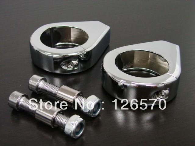 Motorcycle 39MM aluminum chrome turn signal indicators relocation fork clamps for Honda Yamaha Kawasaki Suzuki Harley