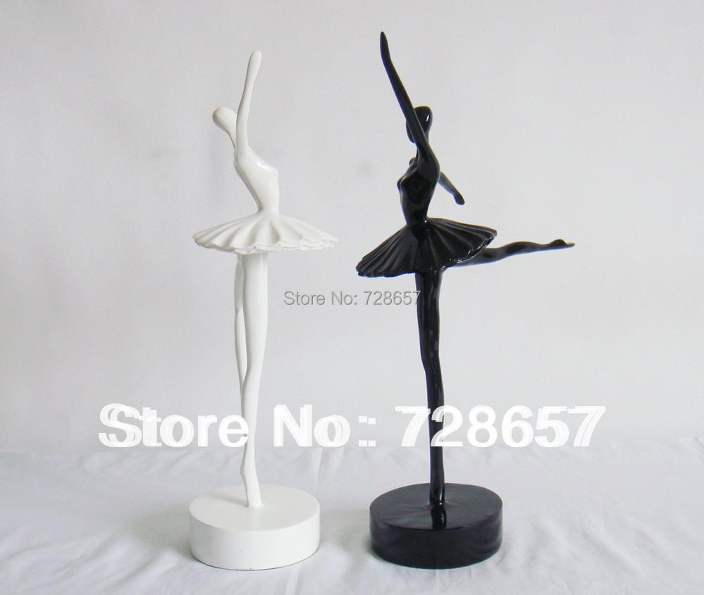 modern abstract ballet dancer figurine handmade resin ballerina statue art and craft ornament. Black Bedroom Furniture Sets. Home Design Ideas
