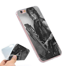 Buy Walking Dead Daryl Dixon Clear Soft TPU Slim Silicon Phone Case Cover iPhone 4 4S 5C 5 SE 5S 7 6 6S Plus 4.7 5.5 inch for $2.24 in AliExpress store