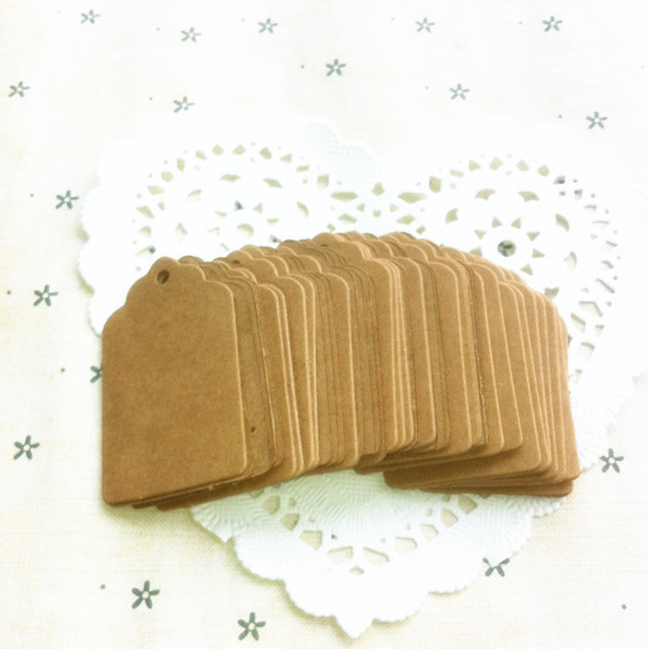 S601 5*3cm Antique Kraft Paper Gift Cards/Tags with Swirl Edges for Wedding Decoration/DIY Card Making/Scrapbooking Paper Crafts(China (Mainland))