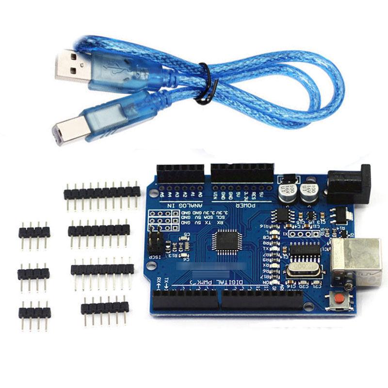 ATmega328P CH340G UNO R3 Development Board & Free USB Cable for Arduino Hot sale(China (Mainland))
