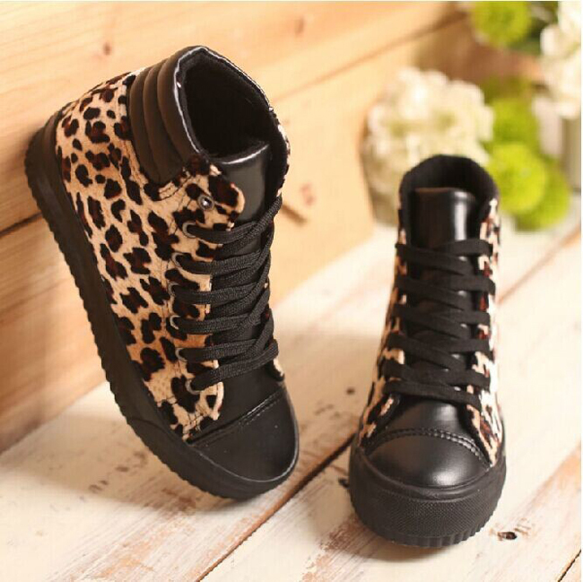 Wholesale High Top Women Wedge Sneakers Platform Sexy Leopard Print PU Leather Women Boots Brand Design Casual Shoes XWL0025-4(China (Mainland))