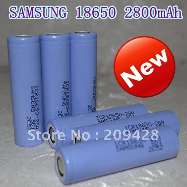 free shipping, 6pcs/lot 2800mAh  Li-ion Lithium 18650 3.7V rechargeable battery for SAMSUNG laptop battery