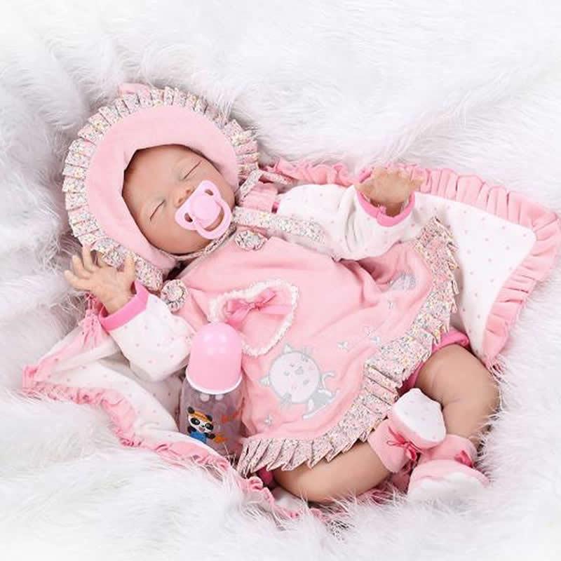 55cm Baby Reborn Dolls Soft Silicone Baby Toy  Princess Dolls Kids Playmates Christmas Birthday Gifts<br><br>Aliexpress