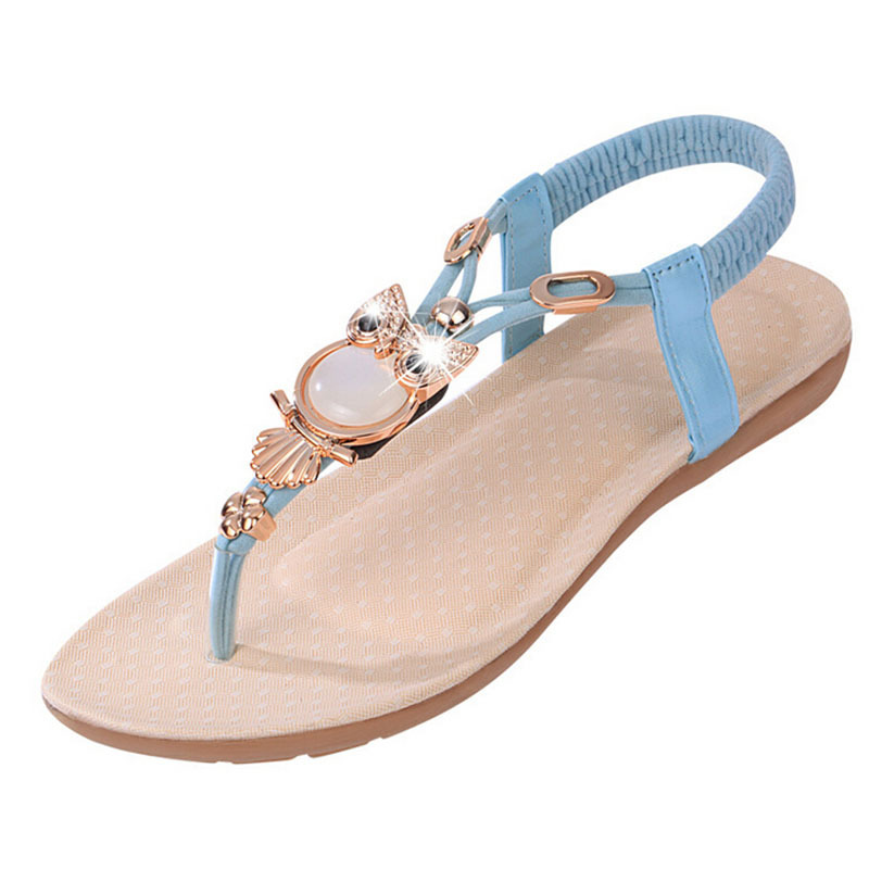 Women sandals 2015 fashion vintage low heel wedges sandal ankle straps gladiator women sandals summer beach flip flops sandalias(China (Mainland))