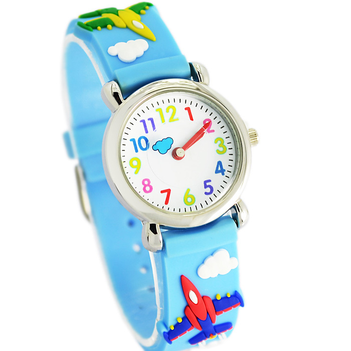 Brand Quartz Wrist Watch airplane Waterproof Kid Watches Children Silicone Wristwatches Baby For Girls Boys Fashion Casual Reloj