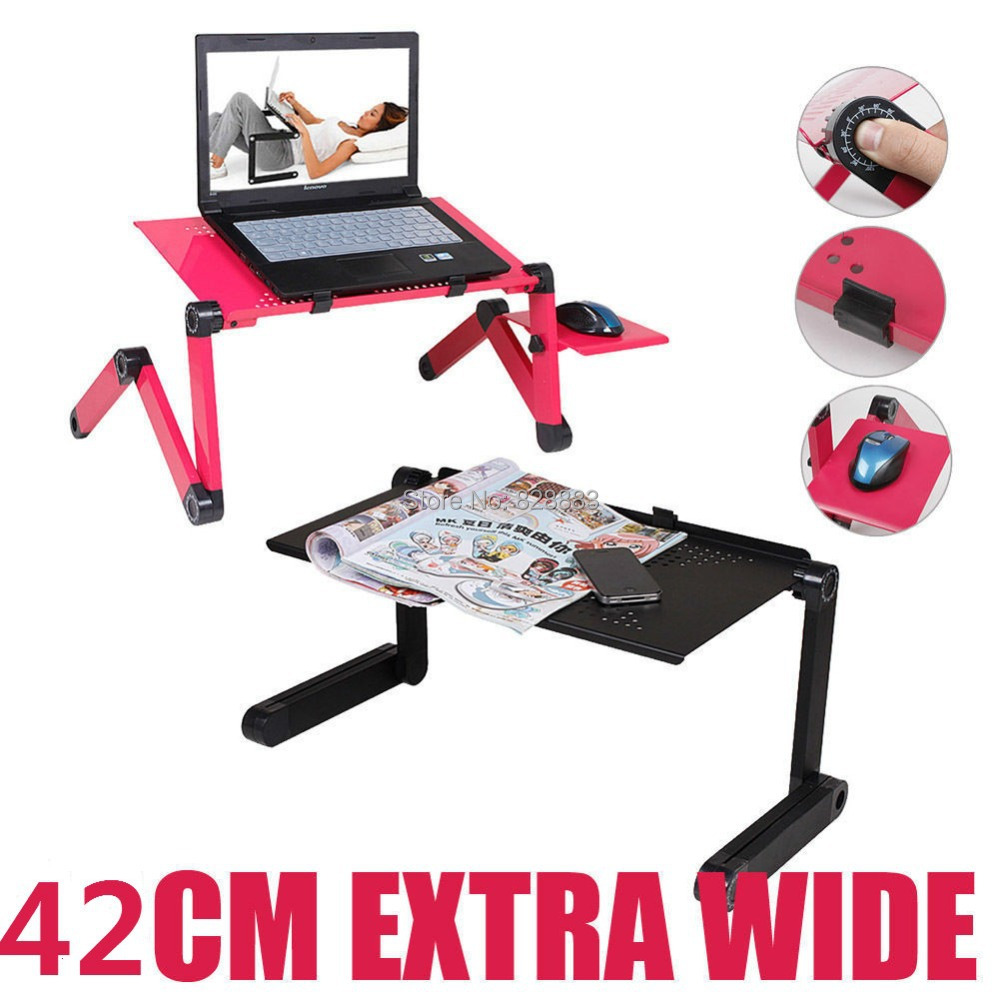 Large Laptop Cooling Table Sofa Desk Stand + Folding Multi Angle Legs 360 rolling Adjustable Folding notebook table(China (Mainland))