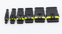 6 sets contain (1+2+3+4+5+6P) for AMP 1.5 Connectors male and female Plug, Automotive waterproof connectors Xenon lamp connector(China (Mainland))