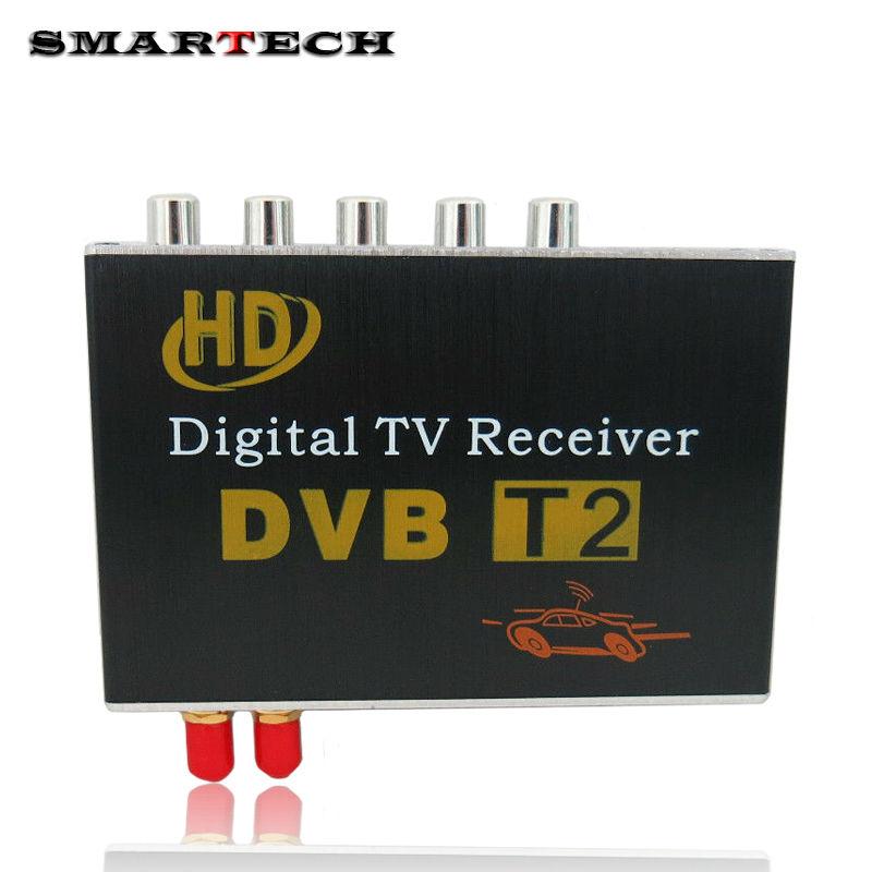 digital tv receiver car dvb t2 car tv tuner double antenna. Black Bedroom Furniture Sets. Home Design Ideas
