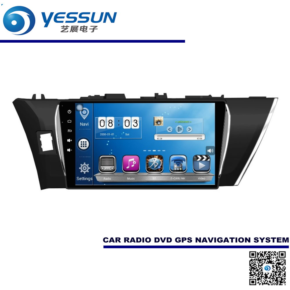 For Toyota Corolla 2013~2015 Car Android GPS Navigation Radio Audio Video Multimedia System(China (Mainland))