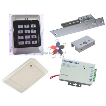 RFID Keypad Access Control kit with bolt lock  and reader read card outside and inside