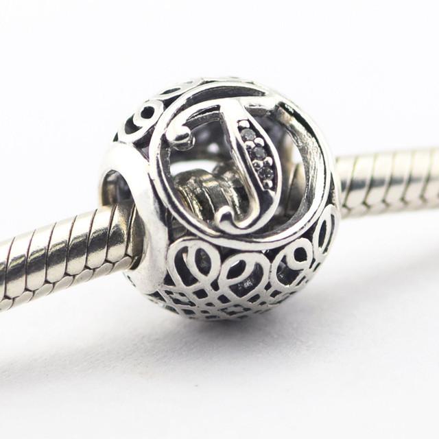 Серебро 925 2016 весна ювелирные изделия буква т бусины подходит браслет европейский алфавит натуральный камень бусины для ювелирных изделий
