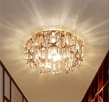 Luxury light Fashion LED Diameter 14cm  K9 cystal ceiling light  110-240V 3W LED Ceiling Lamps Free Shipping(China (Mainland))